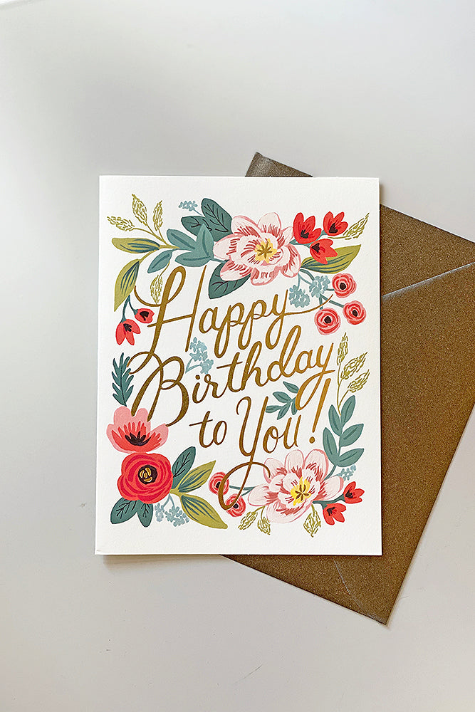 Happy Birthday Bloom Greeting Card