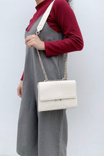 Push Buckle Envelope Tote