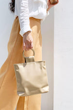 Bars Round Handle Tote Bag