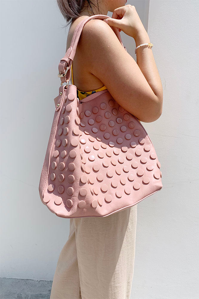 Button Two-In-One Shoulder Bag