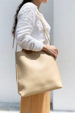 Square Stitch Buckle Tote Bag