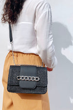 Straw Weave With Chain Buckle Bag