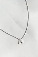 Initial Necklace in Silver