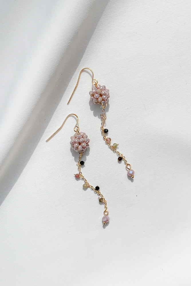 Pom Pom Gemstone Earrings