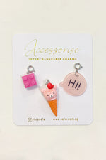 Interchangeable Charms - Ice Cream Set
