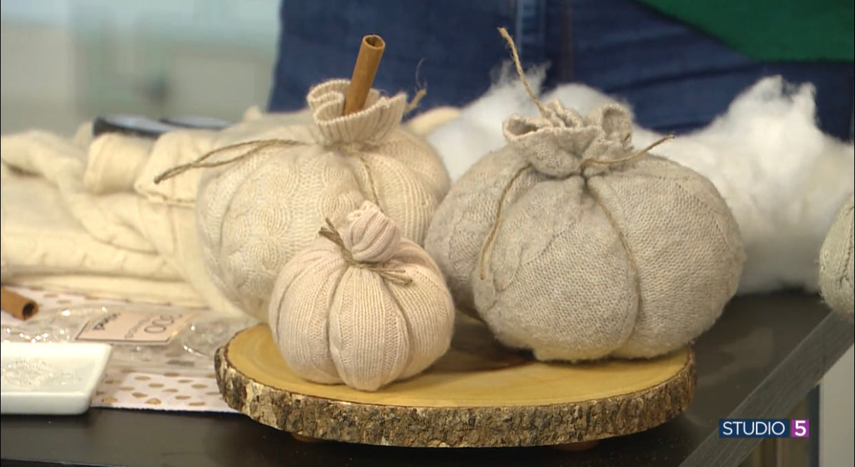NO-SEW DIY: Sweater Pumpkins