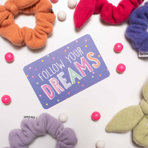 Follow Your Dreams With Colorful Bow Scrunchies