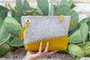 Wool Clutch - Grey