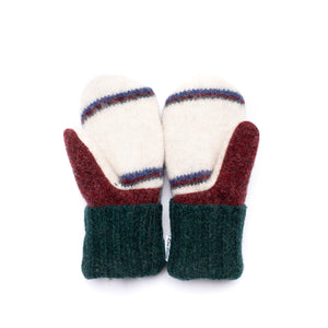 Small Kid's Wool Sweater Mittens | Full Of Energy