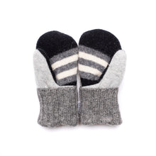 Small Kid's Wool Sweater Mittens | Grey Mist