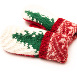 Women's Wool Sweater Mittens | Licorice