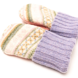 Women's Wool Sweater Mittens | Reindeer Shapes | Luxe