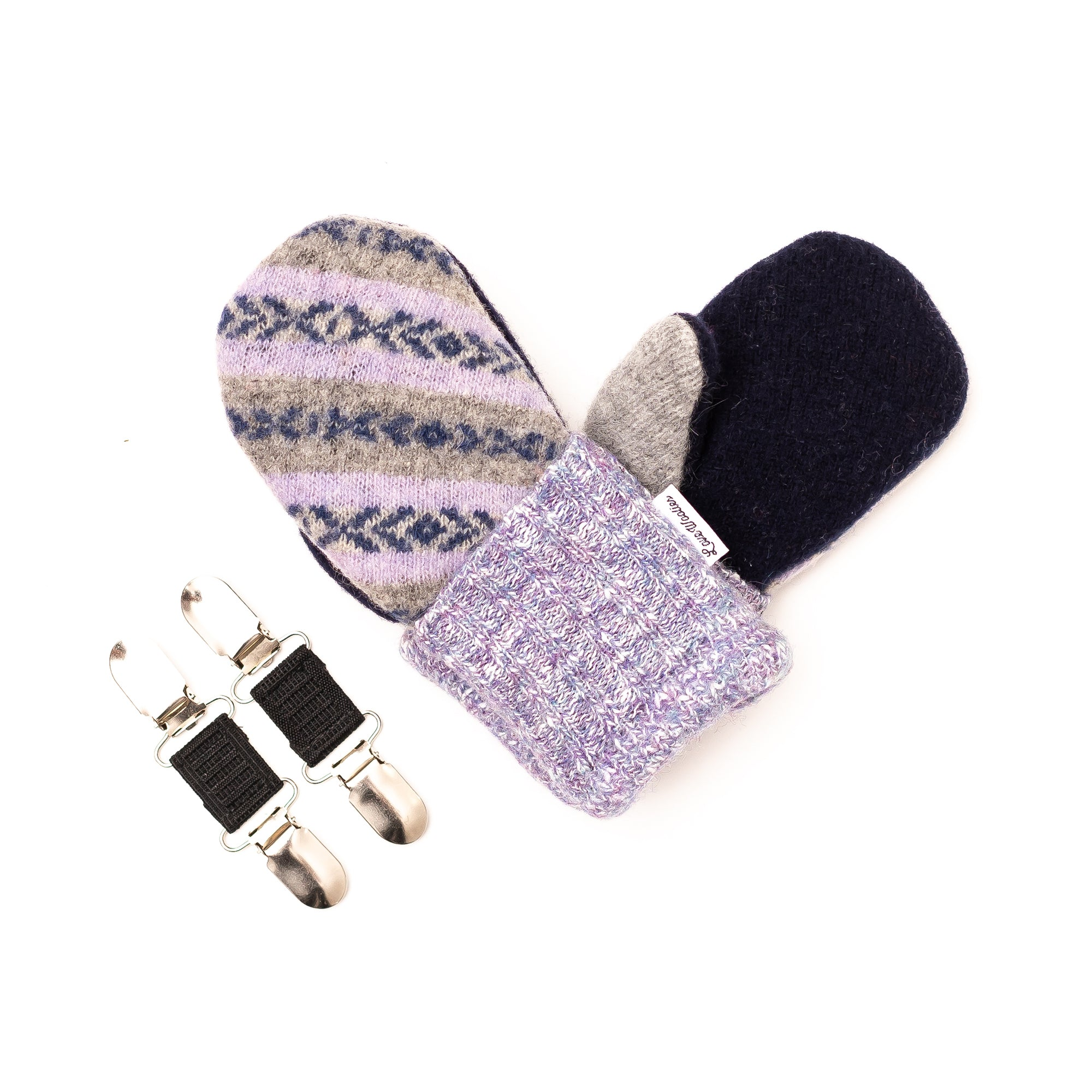 Small Kid's Wool Sweater Mittens | Lavender Lovey