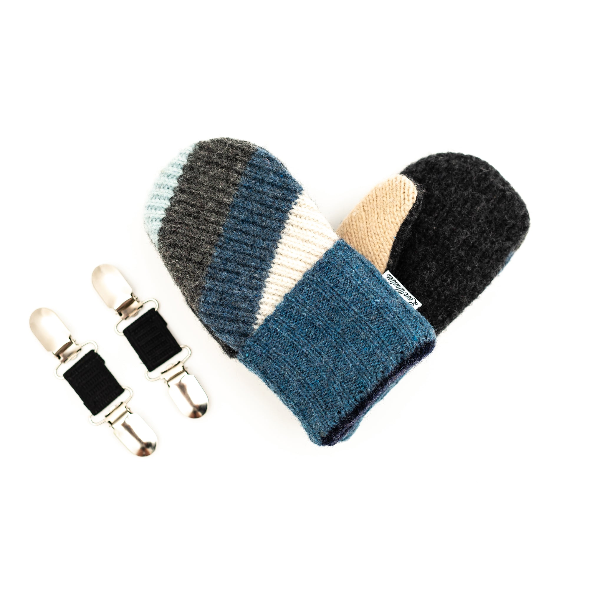 Small Kid's Wool Sweater Mittens | Icicles