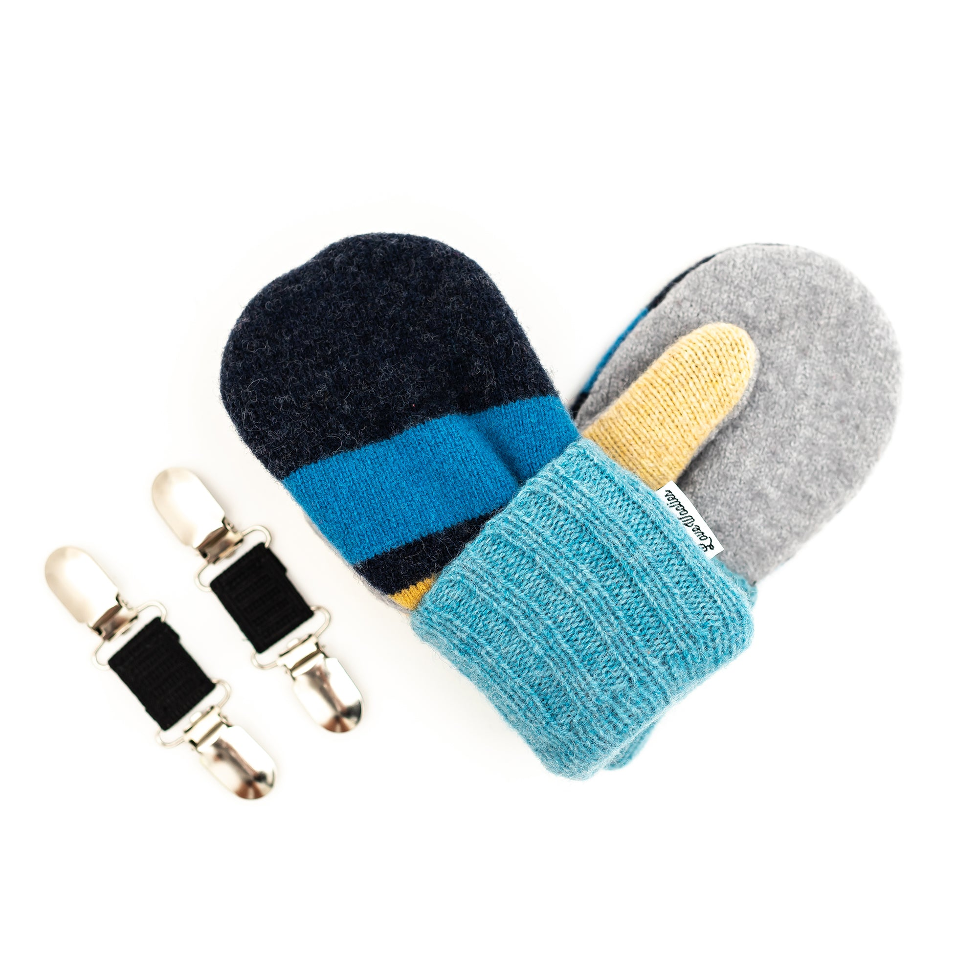Small Kid's Wool Sweater Mittens | Baby Blues
