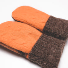 Small Kid's Wool Sweater Mittens | Playing in the Leaves