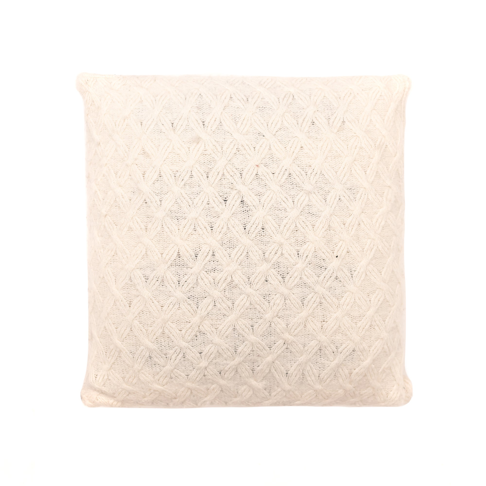 20x20 Ivory Cable Knit Pillow Cover