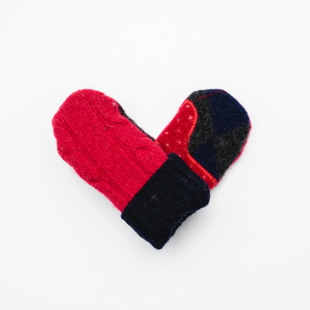 Baby Mittens Made From Wool and Cashmere Sweaters