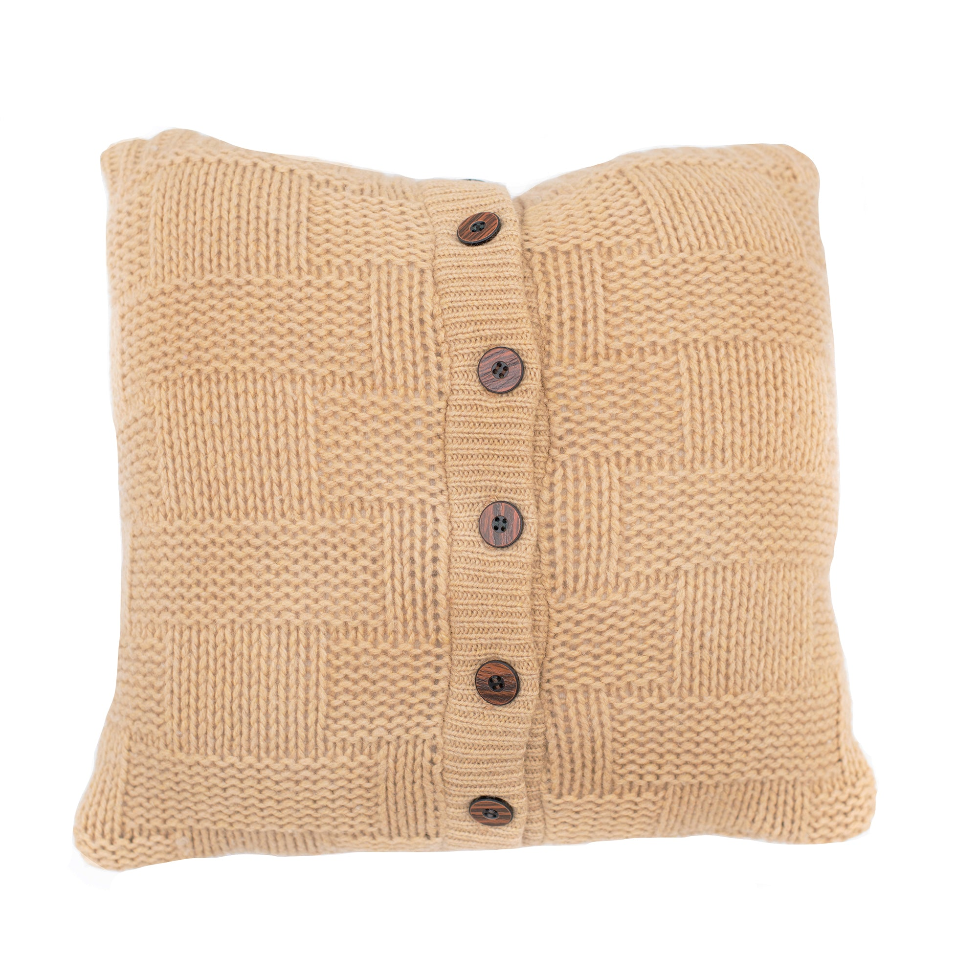 16x16 Camel Cable Knit Pillow cover