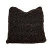 18x18 Black Cable Knit Pillow cover