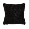 14x14 Charcoal Black Cable Knit Pillow Cover