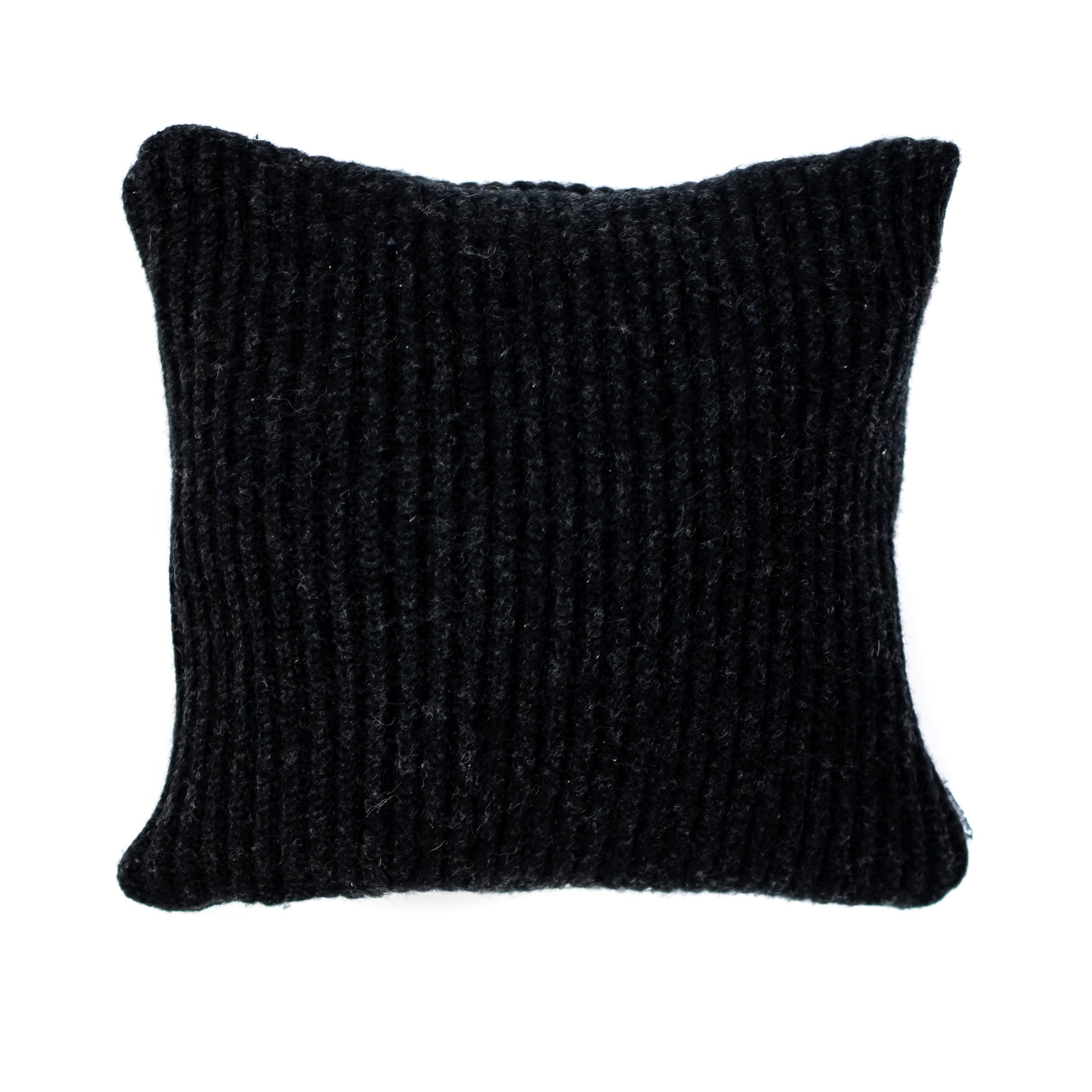 10x10 Wool Black Pillow Cover