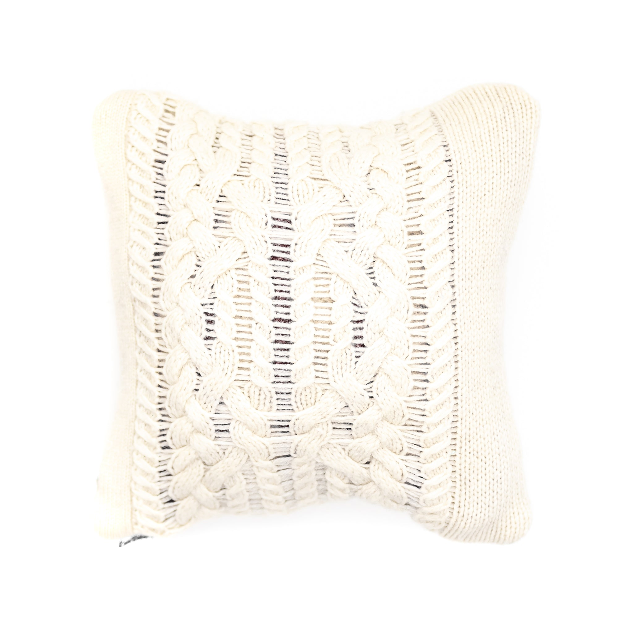 10x10 Cream Wool Pillow Cover