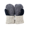 Small Kid's Wool Sweater Mittens | Blue River