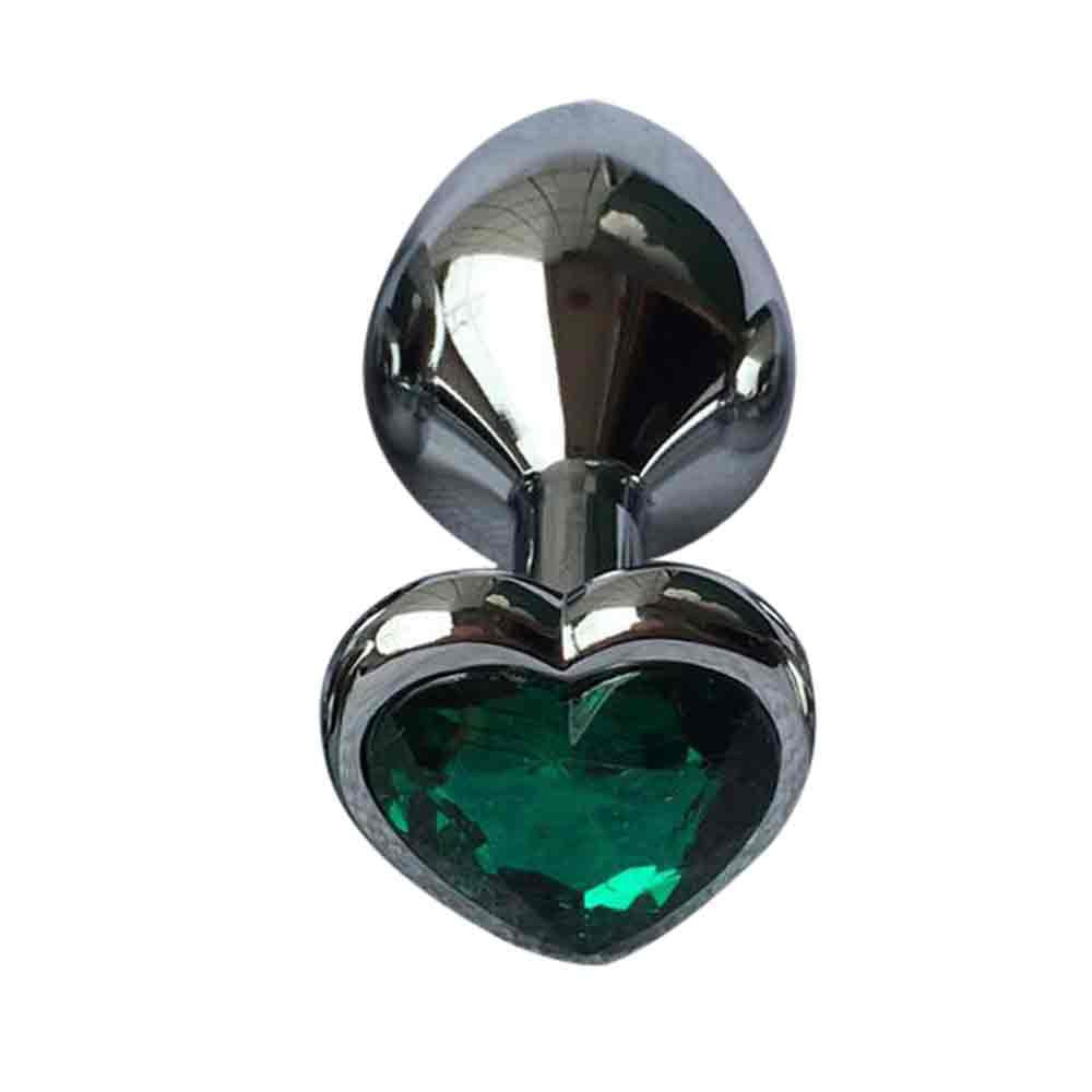 1pc Heart Base Button Sliver Stainless Steel Butt Plug