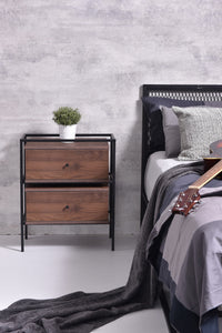 Tammy bedside table, columbia walnut
