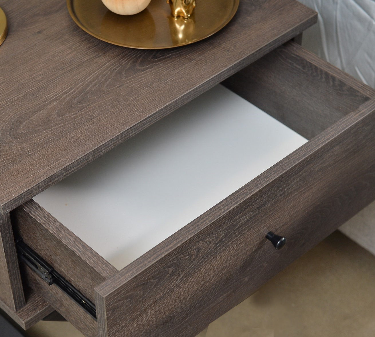Tammy bedside table, antico wenge