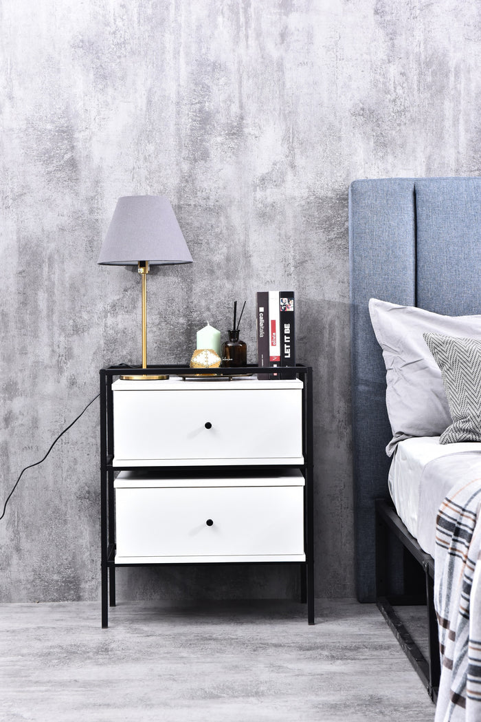 Tammy bedside table, white