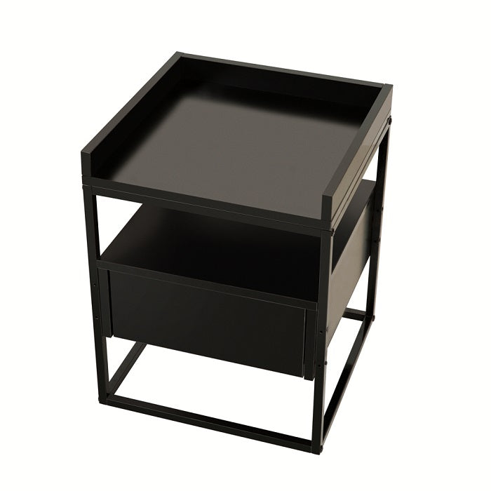 Valley bedside table, black