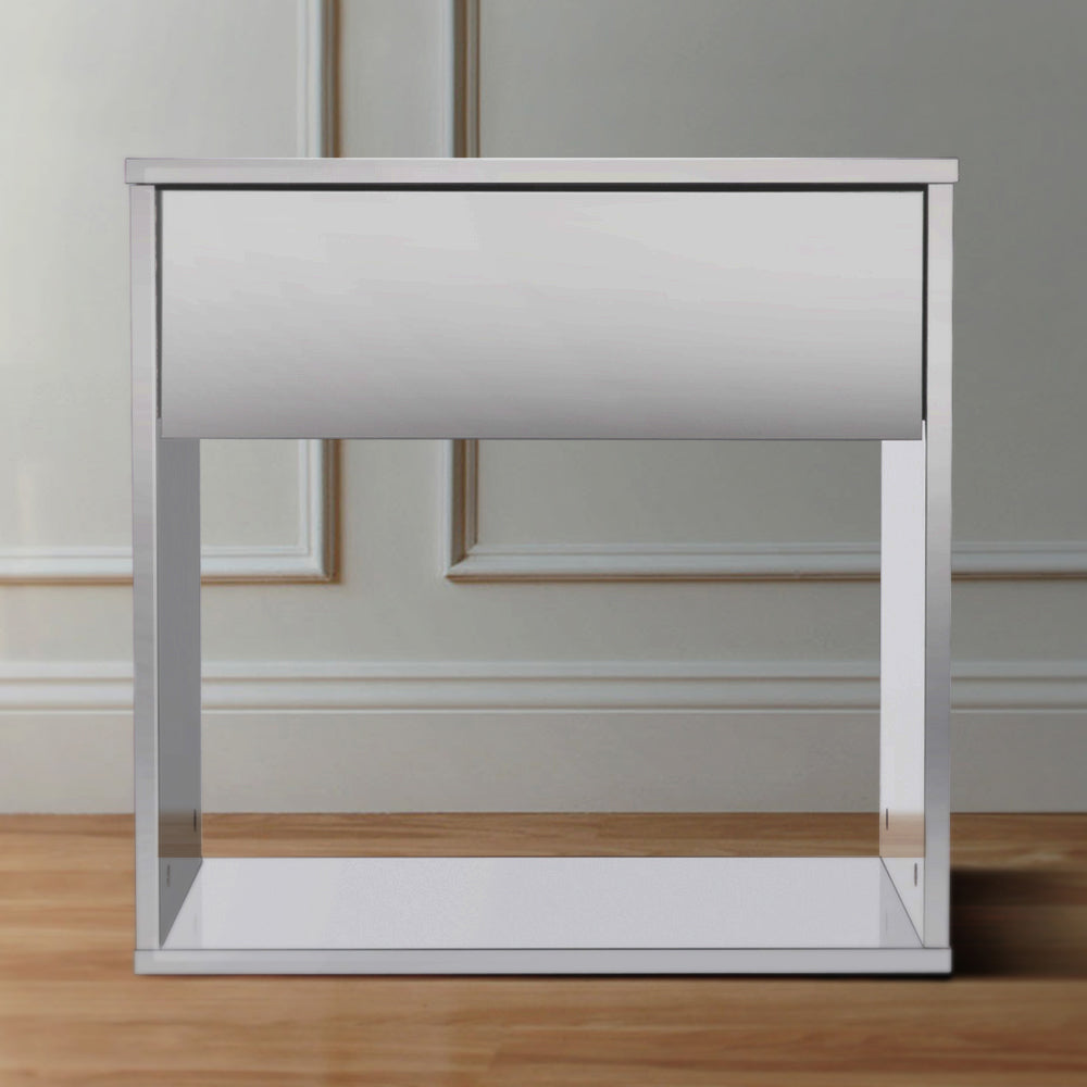 Emma basic 1 drawer bedside table, white