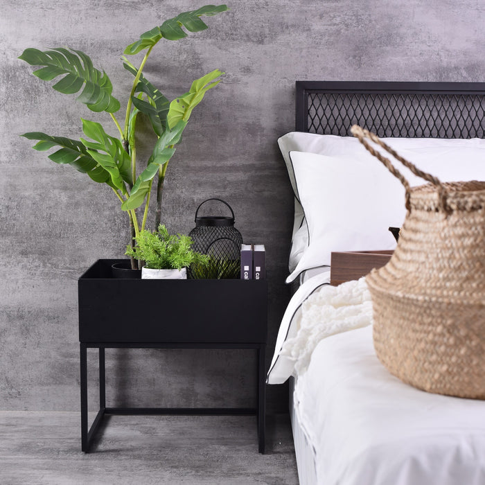 Alias bedside table, Black