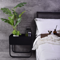 Gloin bedside table, Black