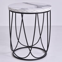Lencia Side Table, marble