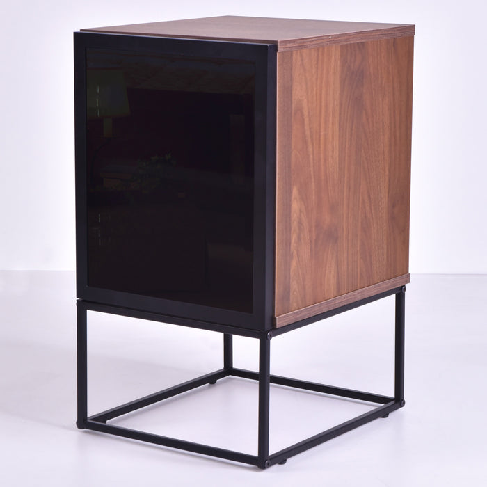Avery Bedside Table, Columbia Walnut