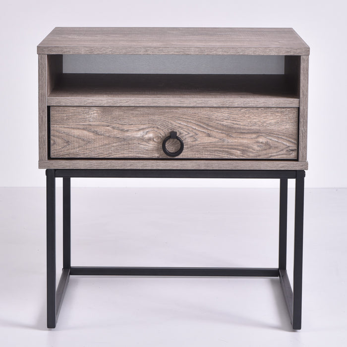 Dana Bedside Table, Alaska Oak