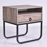 Innis Bedside Table, Alaska Oak