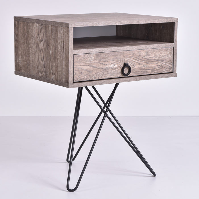 Garrett Bedside Table, Alaska Oak