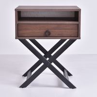 Freya Bedside Table, Columbia Walnut
