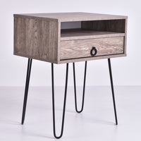 Edea Bedside Table, Alaska Oak