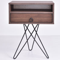 Garrett Bedside Table, Columbia Walnut
