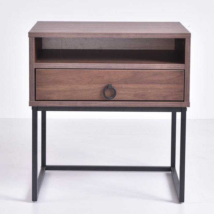 Dana Bedside Table, Columbia Walnut