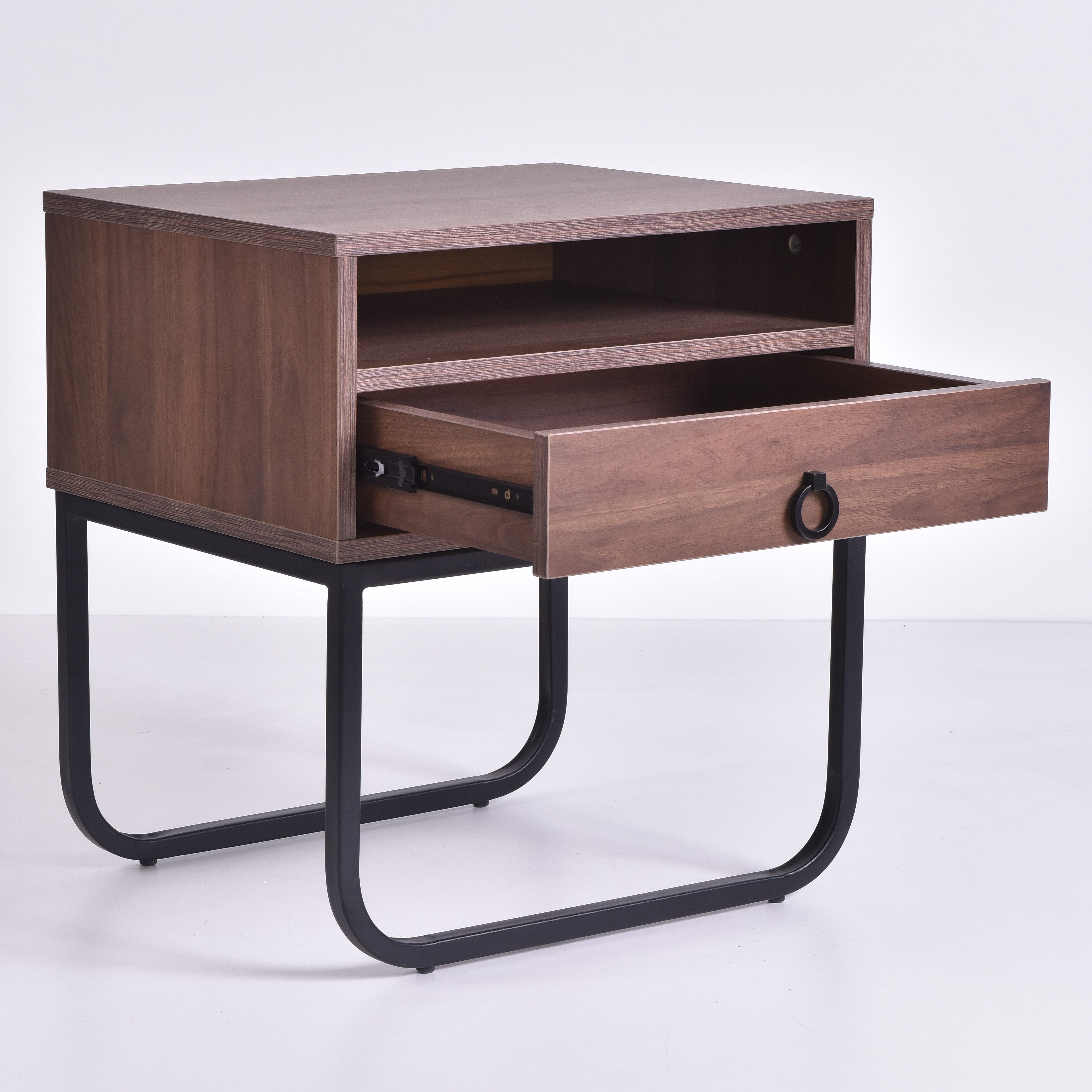 Innis Bedside Table, Columbia Walnut