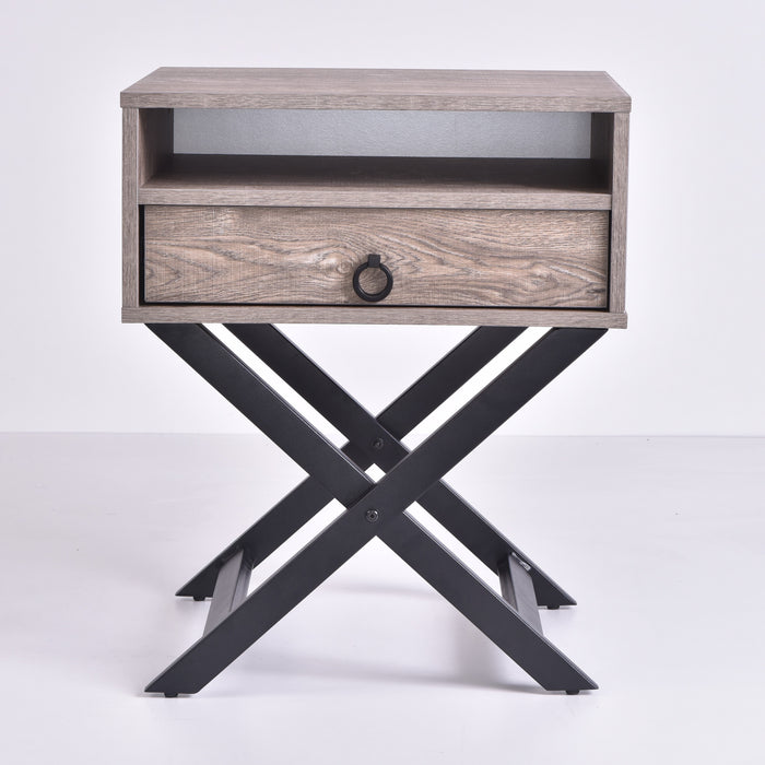 Freya Bedside Table, Alaska Oak