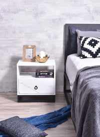 Rylan Bedside Table, Marble