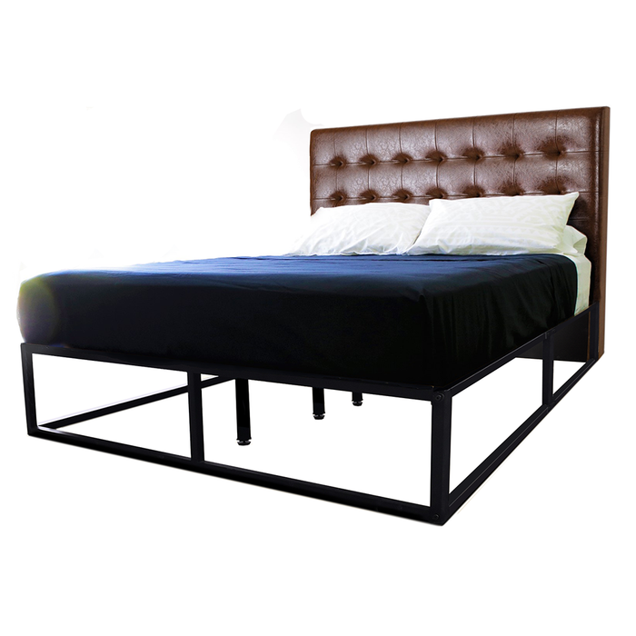 Clayton platform bed, brown