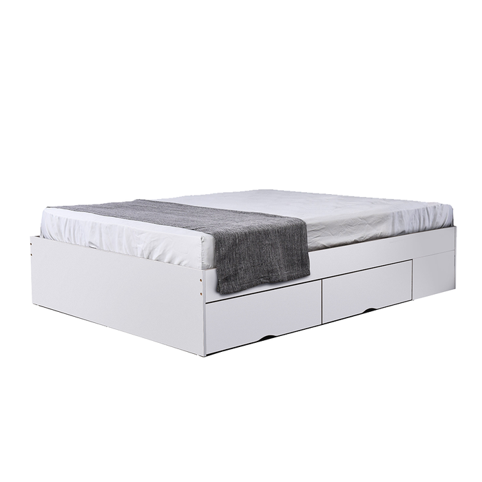 Bozz 4 drawers storage platform Bed, white